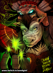 Tauren Druid from World of Warcraft by ZOMBGIEF