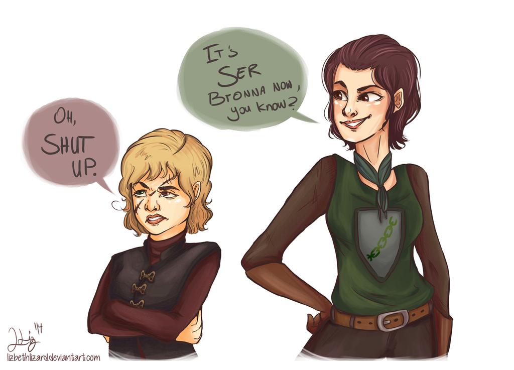 Ser Bronna (GoT Genderbend) by LizbethLizard