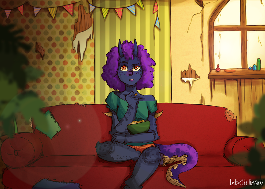 Lonimo's living room~ by LizbethLizard