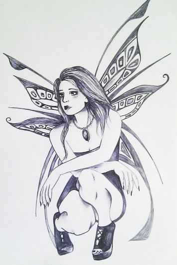 gothic fairy by ElizaDrew Dark Fairy Drawings In Pencil