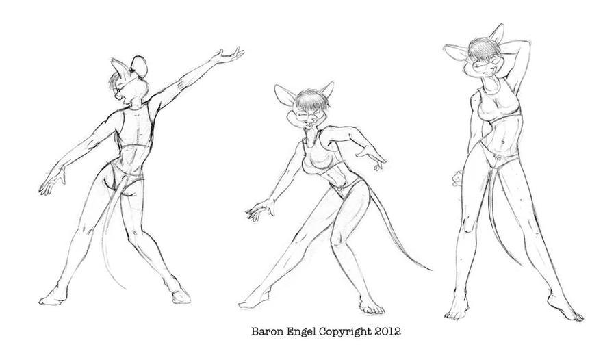 Jackie dancing. by Baron-Engel