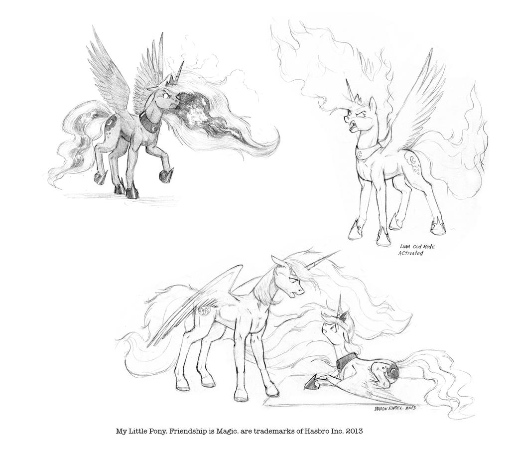 Luna's rage by Baron-Engel