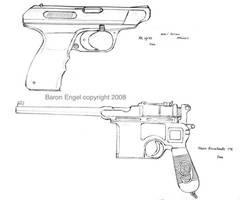Mauser C96-HK VP70 by Baron-Engel