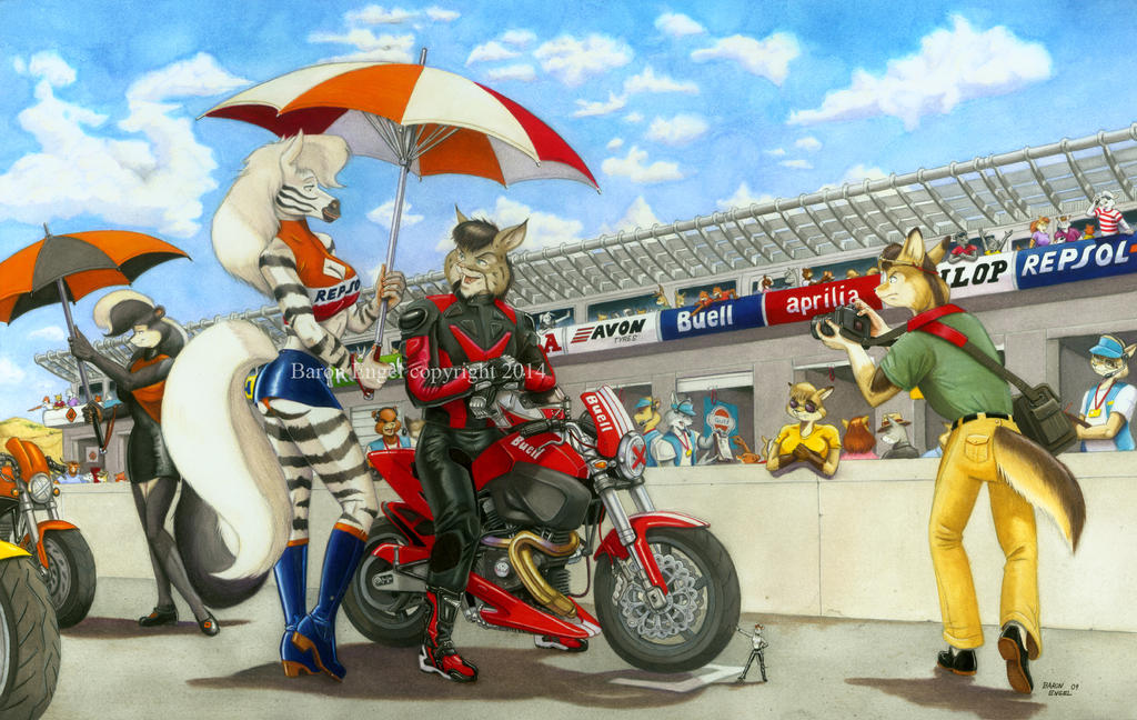 At the track final color by Baron-Engel