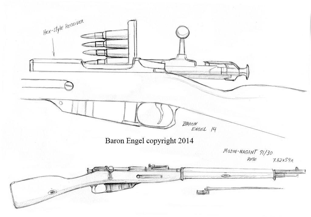 mosin nagant rifle study by baron engel on deviantart rh deviantart com mosin nagant bolt diagram mosin nagant 91/30 diagram