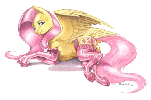 Fluttershy in stockings color