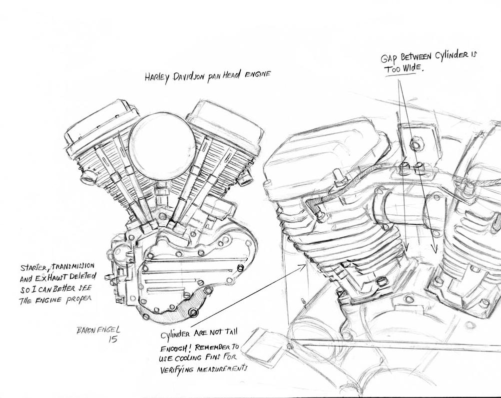 harley davidson panhead 01 by baron engel on deviantart rh deviantart com harley davidson panhead engine diagram Engine Exploded View