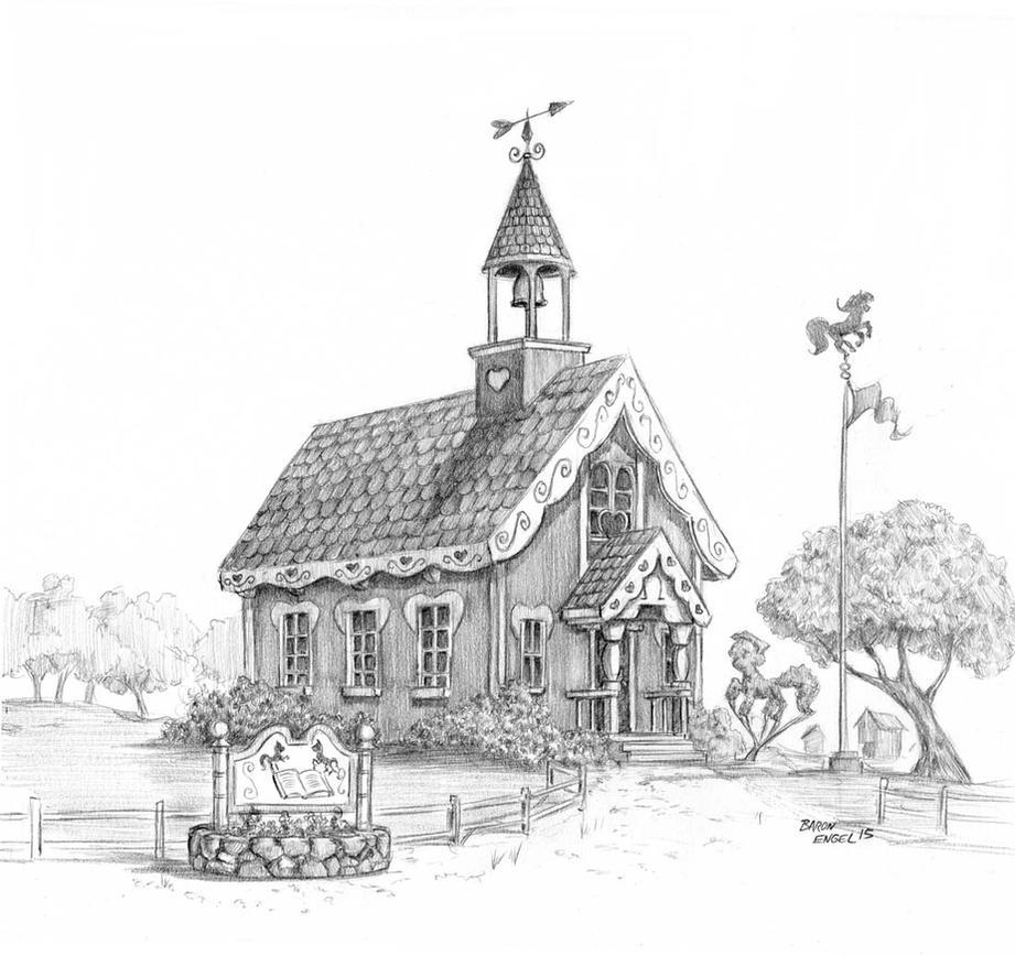 Ponyville Schoolhouse 01 By Baron Engel On Deviantart