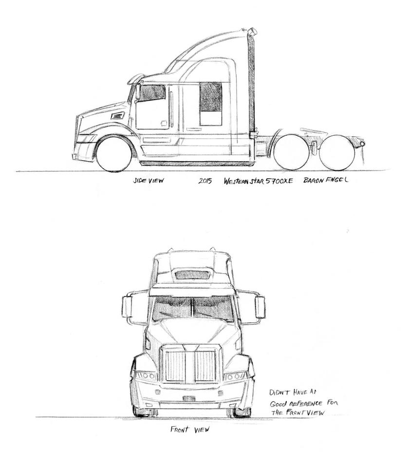 western star 5700xe sketches by baron