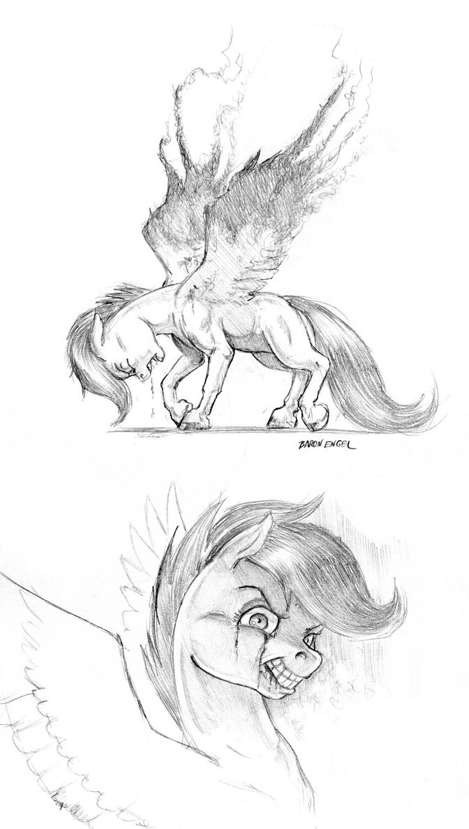 Pony art of the non diabetic variety.  - Page 26 Scootaloo_the_dark_wander_by_baron_engel-d9ycs5m