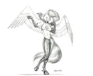 Rocking Fluttershy by Baron-Engel