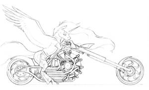 Sun Chariot under drawing