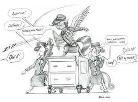 Flight Attendants by Baron-Engel