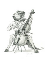 The Cello Player by Baron-Engel