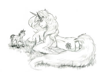 The Beast in the Garden by Baron-Engel