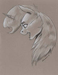 Petina on toned paper by Baron-Engel