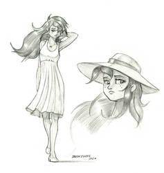 Wallflower in sun dress 01