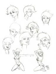 Human Petina study sketches 01