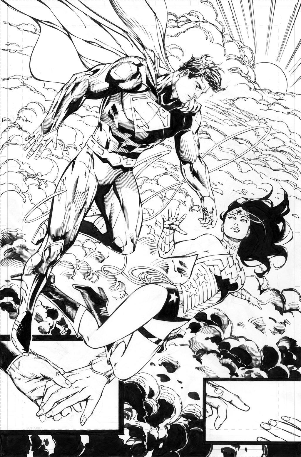 superman wonder woman 1 pg 1 by battinks on deviantart