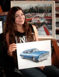 Artist, Dodge Monaco Drawing