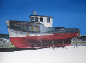 Crescent City Boat Painting W.I.P.