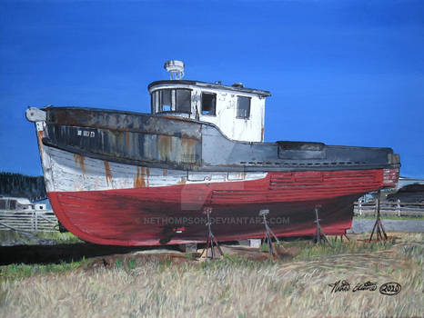 Crescent City Boat Painting
