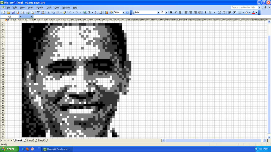 obama excel art by katak888 on DeviantArt