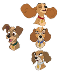 LATT: Lady and Tramp's Puppy Redesigns
