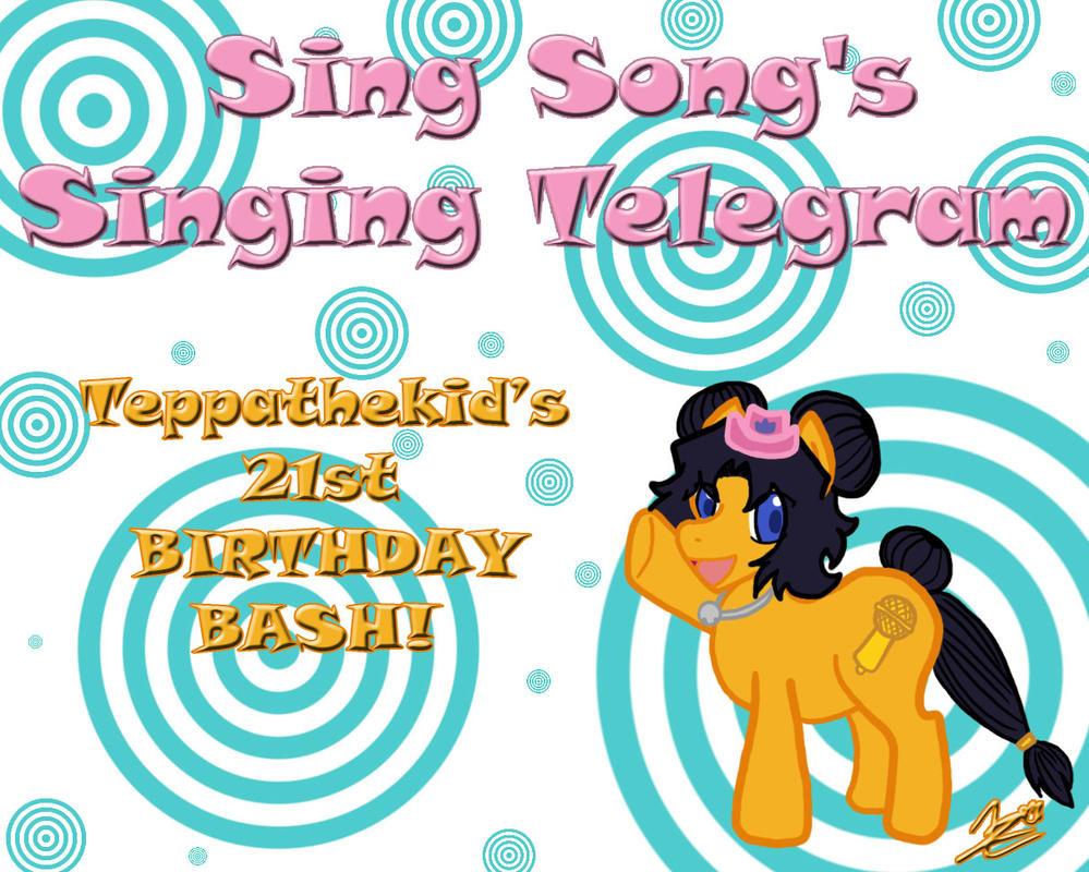 Sing Song's Singing Telegram - TEPPATHEKID'S BIRTH by Teppa