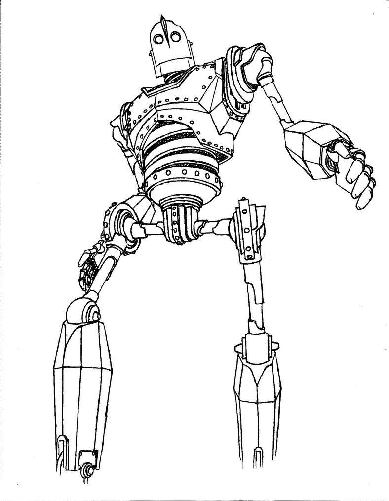 coloring pages iron giant boy - photo#10
