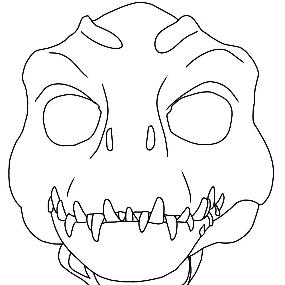 Indoraptor Fursuit Mask Base