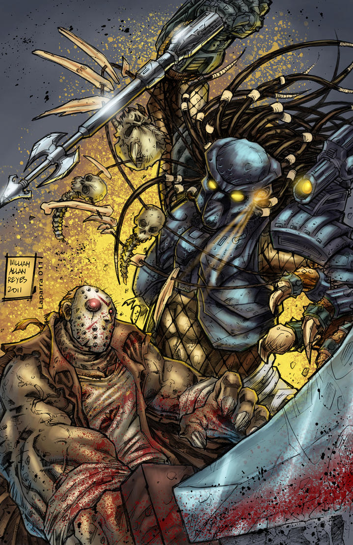 predator vs jason coloring pages - photo#22