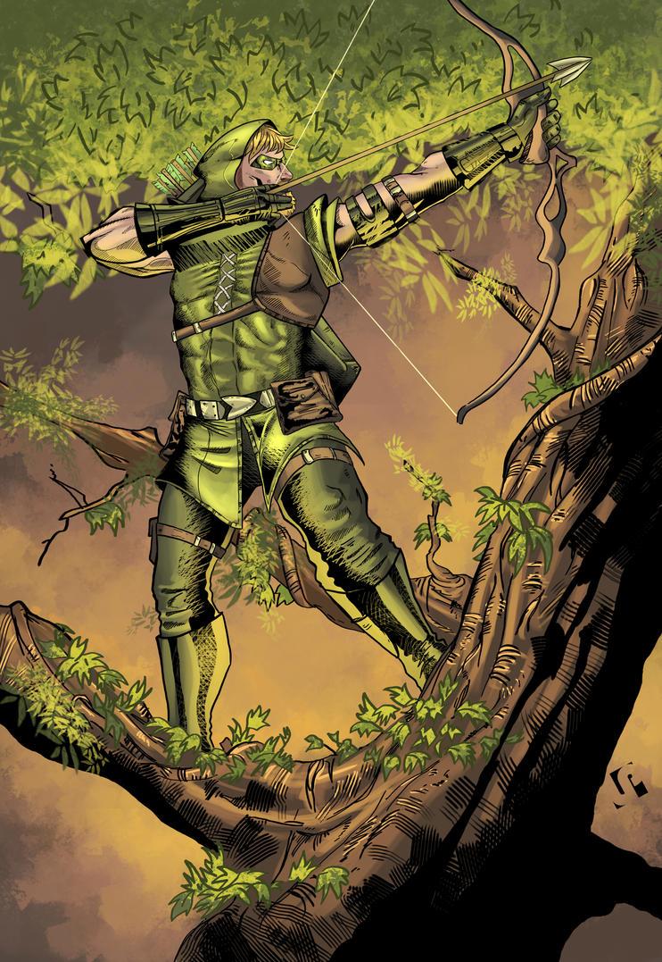 Green Arrow coloured by Javilaparra