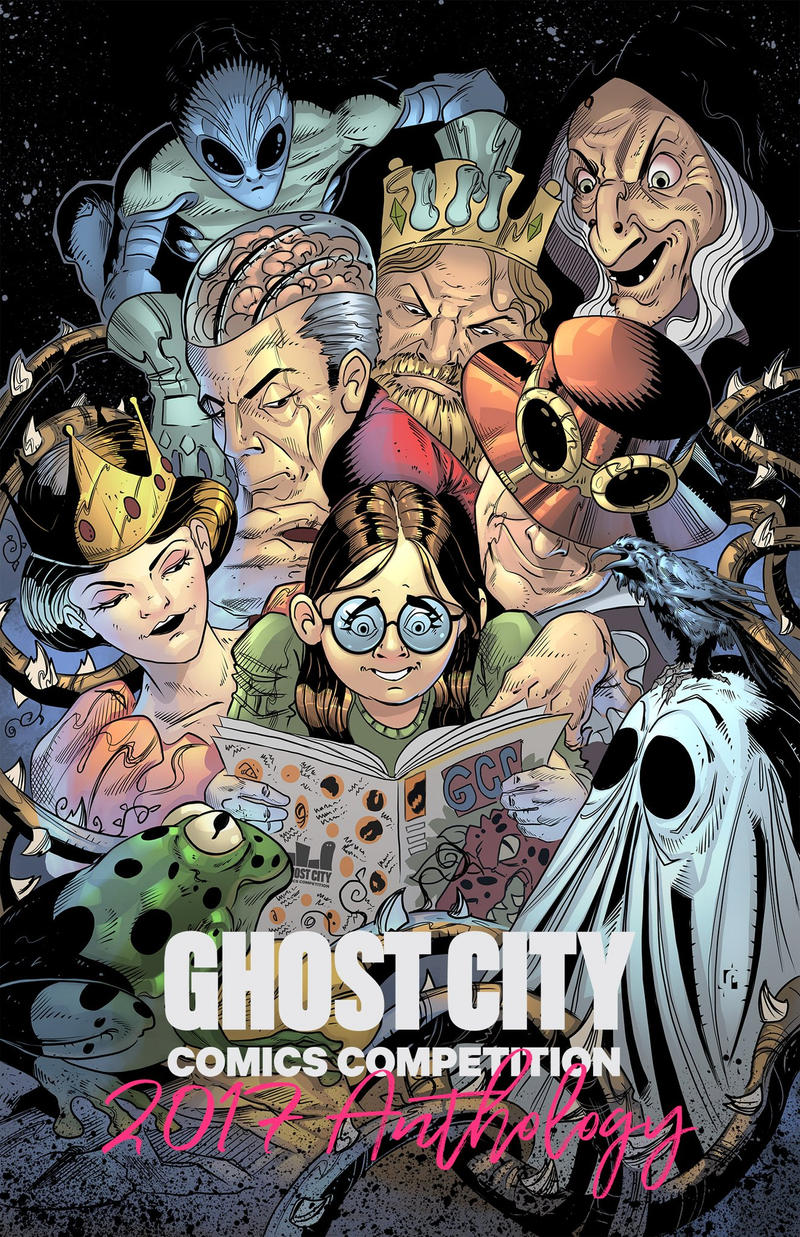Ghost City Comics Anthology Cover by Javilaparra