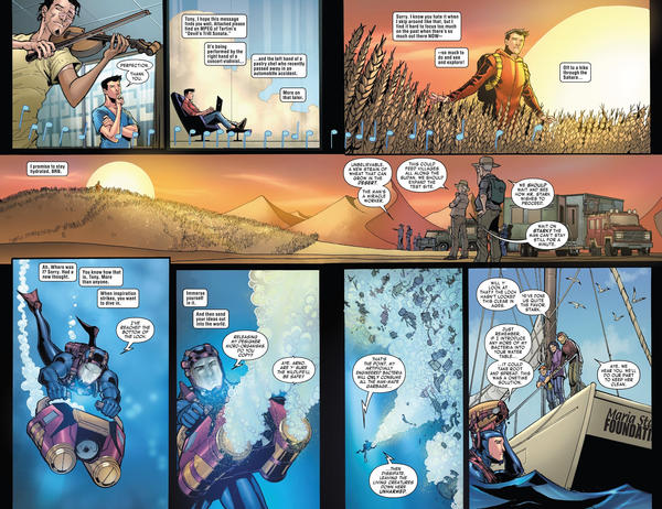 Tony Stark Iron man  double page colored by Javilaparra