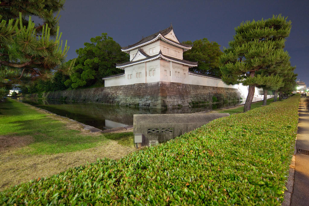 Nijou-jou - Castle Wall And Moat by Quit007