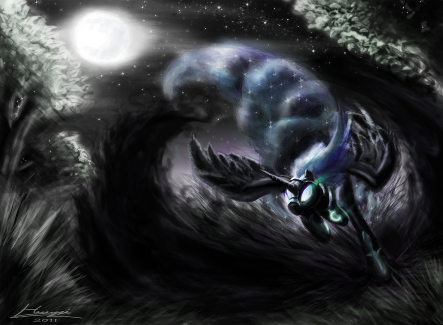 Nightmare Moon by Huussii
