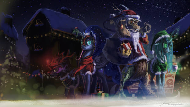 Chaotic Christmas Eve by Huussii