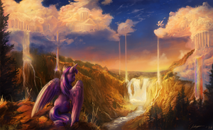 Twilight Visits the Sky by Huussii