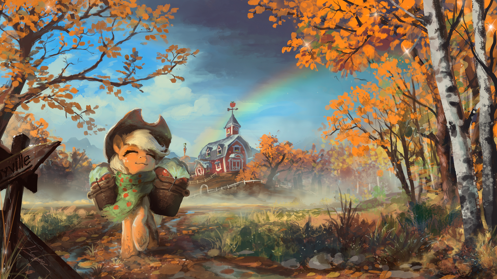 The Last Apples of Autumn by Huussii