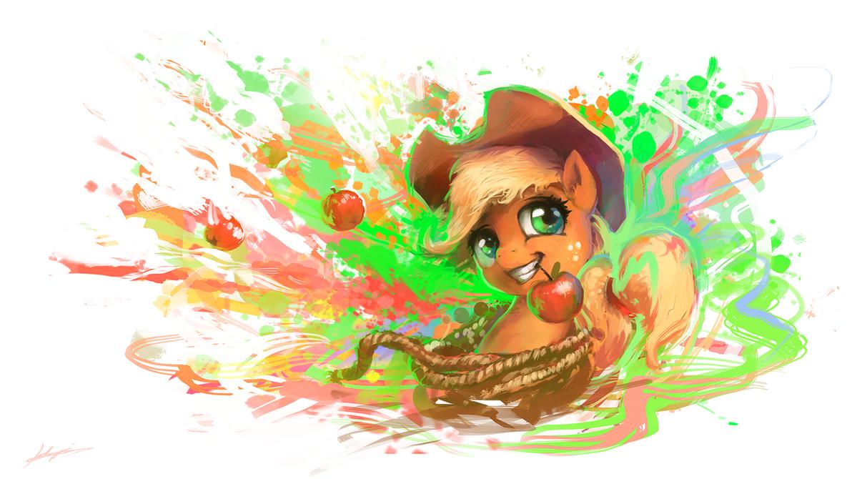 Splatter of Apples by Huussii