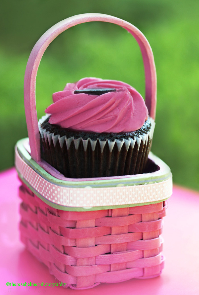 Raspberry Chocolate Cupcake by theresahelmer