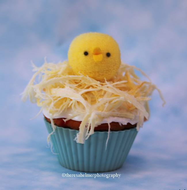 Cute Chick Cupcake by theresahelmer