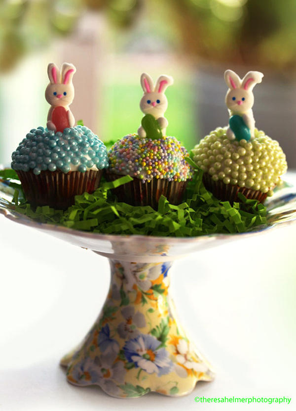 Baby Bunny Cupcakes by theresahelmer