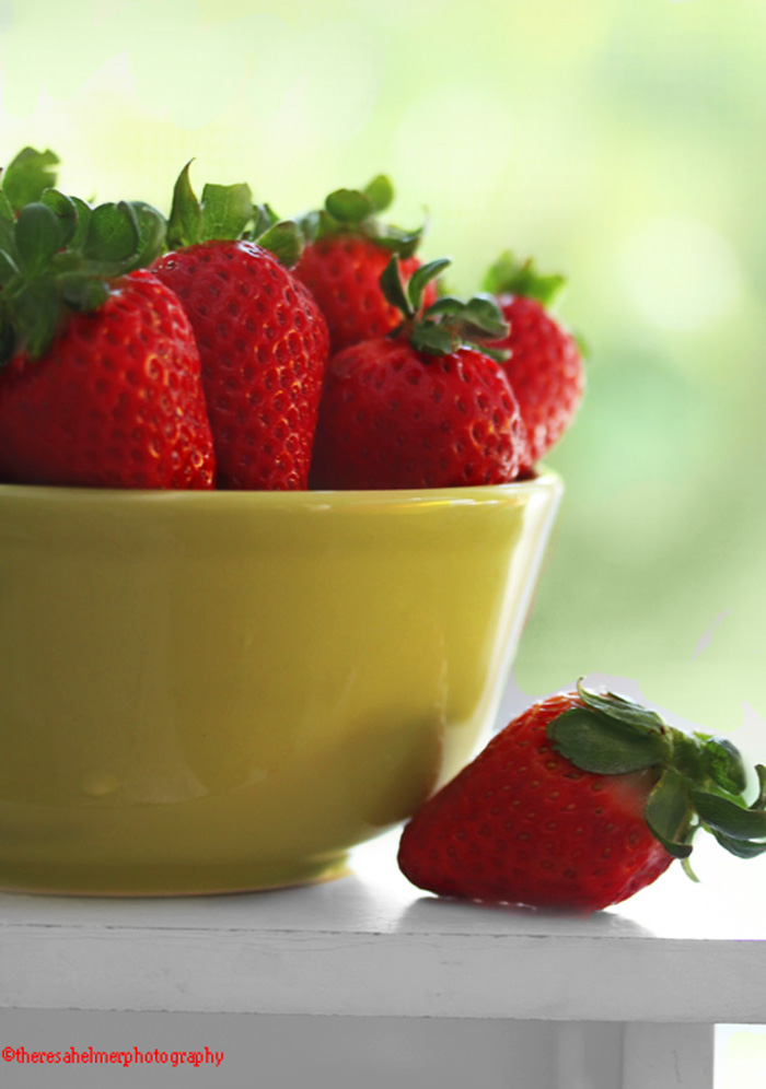 Farm Fresh Strawberries by theresahelmer