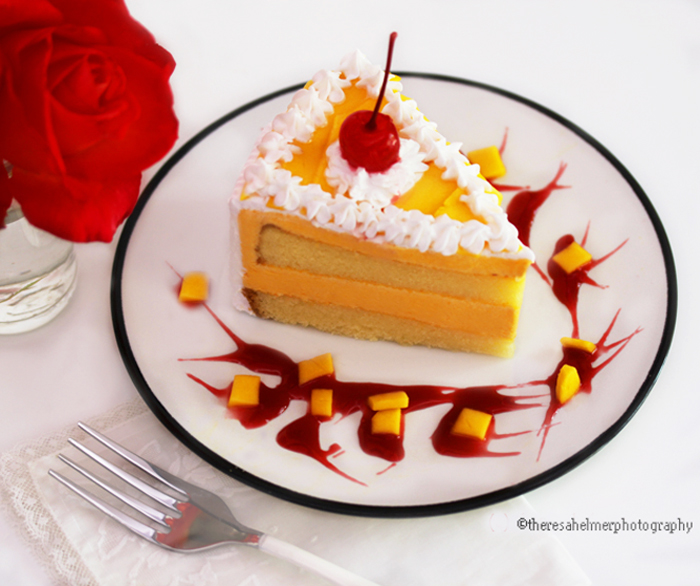 Mango Mousse Cake by theresahelmer