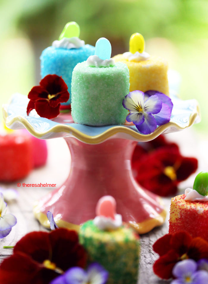 Colorful Marshmallow Treats by theresahelmer