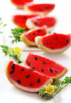 Watermelon Sorbet with Chocolate Chips