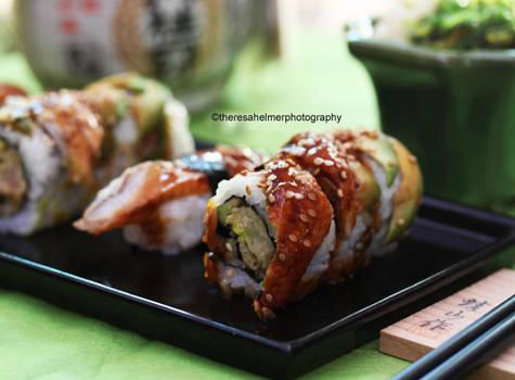 Homemade Unagi Avocado Sushi