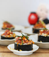 Homemade Spicy Tuna Sushi